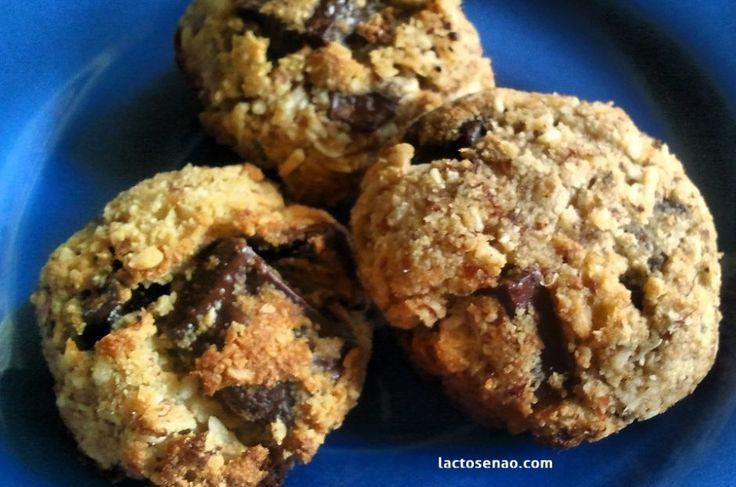 Cookies de amêndoas sem lactose e sem glúten
