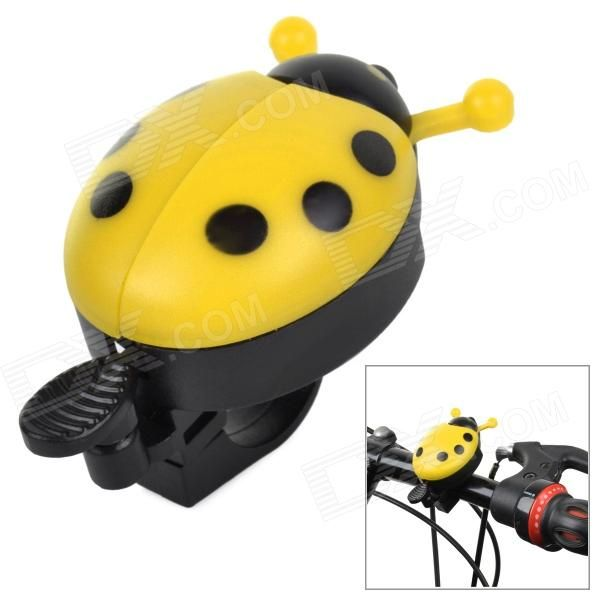 Cute Ladybird Style Bicycle Bike Ring Bell - Yellow   Black Price: $3.30