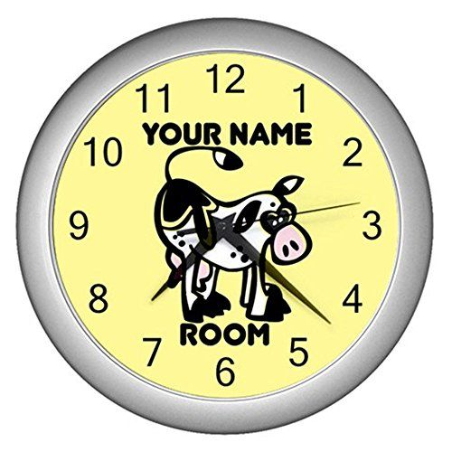 Yellow Personalized Cartoon Animal Cow Wall Clock CustomMade http://www.amazon.com/dp/B0116HYY8O/ref=cm_sw_r_pi_dp_b6jNvb0B9PSDK
