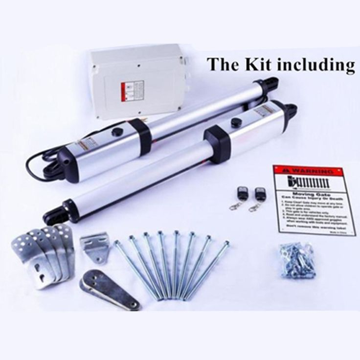 265.00$  Watch now  - 24VDC Linear Actuator Automation swing gate motor kit swing gate opener for 300kgs door weight