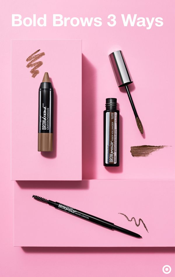 Maybelline makes it easy to define your brows in just a few steps. The crayon is an easy, one-step way to create bold brows. The tinted gel boosts your natural shape and sets the look (tip: brush brows upward!). For more precision, use the pencil duo to comb and fill in your brows to their desired shape.