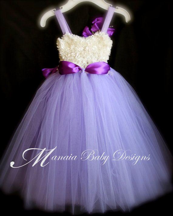 Purple Tutu Dress / Lavender Tutu Dress / by ManaiaBabyDesigns
