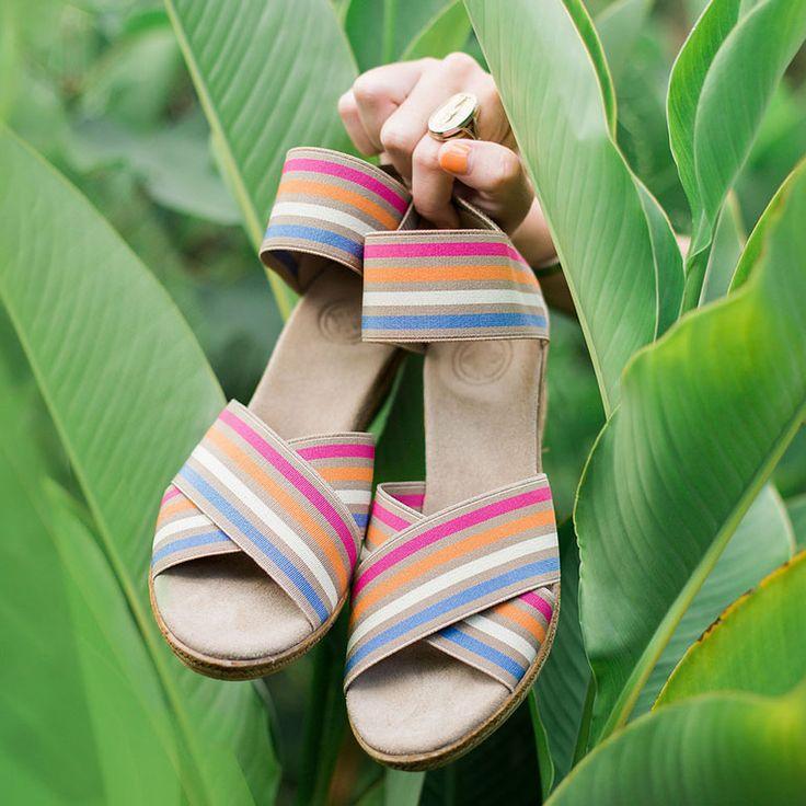 Something You - Charleston Shoe - Cannon Sandal - Caramel Stripe, $110.00 (http://www.somethingyou.com/new/charleston-shoe-cannon-sandal-caramel-stripe/)