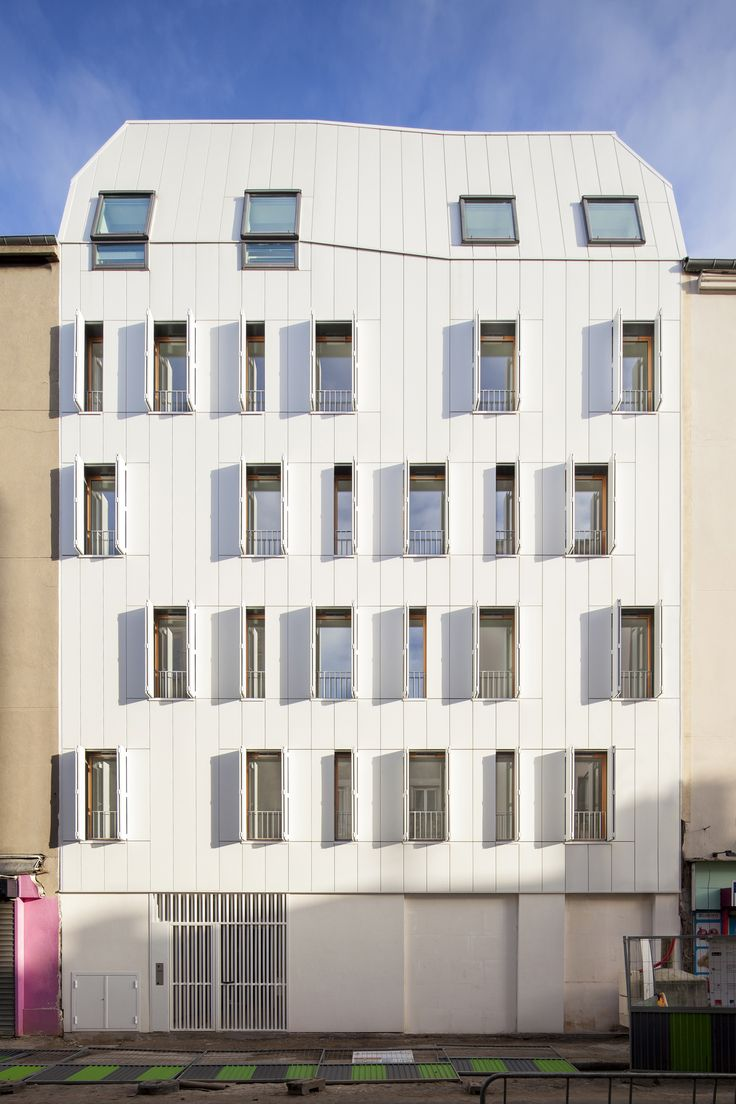 Built by JTB.architecture in Saint-Denis, France with date 2015. Images by Luc Boegly. This 10 social rented housing is part of the National Plan Redevelopment of Former District Gradients (PNRQAD).  The ...