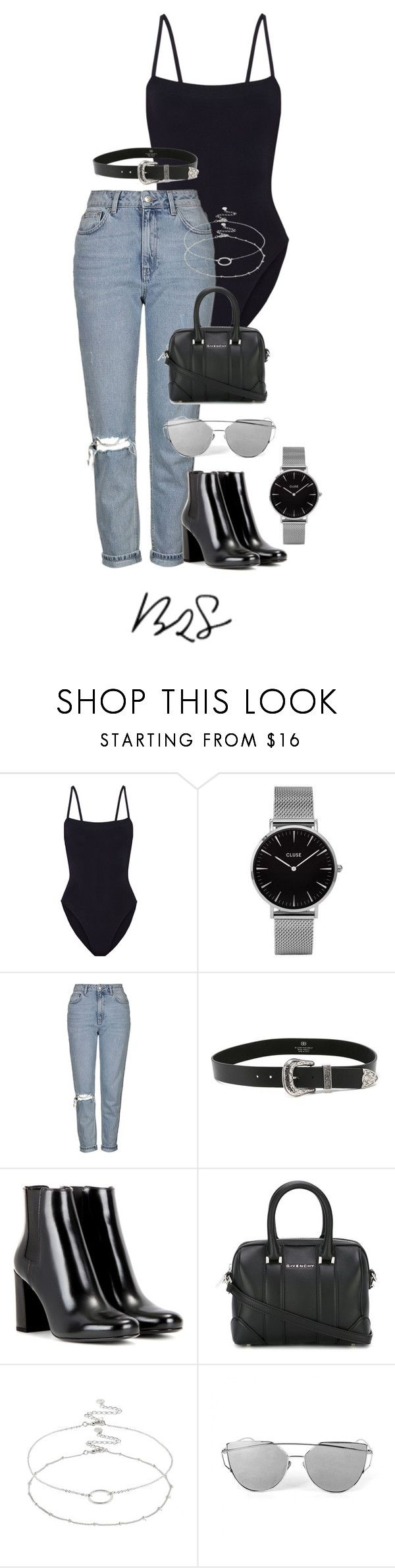 """""""#932"""" by blendingtwostyles ❤ liked on Polyvore featuring Eres, Topshop, B-Low the Belt, Yves Saint Laurent, Givenchy and Accessorize"""