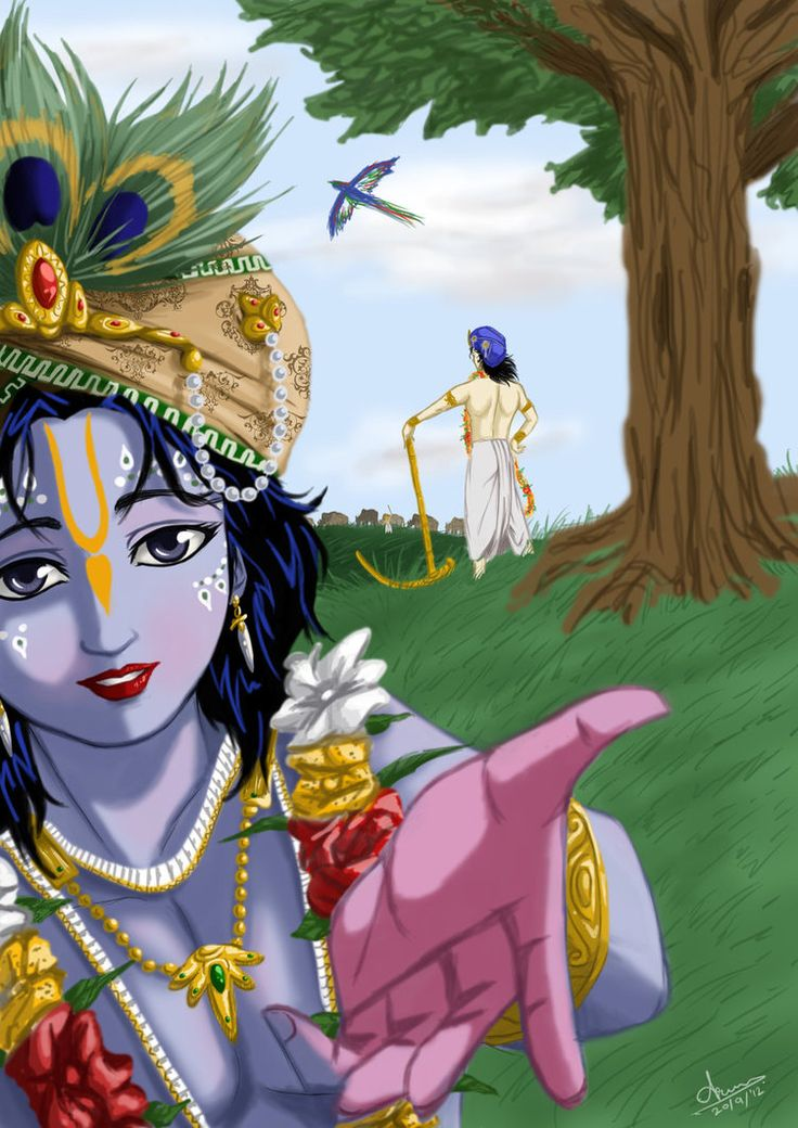 Krishna calling out by nairarun15 on deviantART