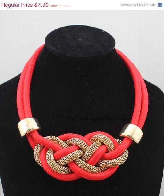 ChristmasHotSale Knot Necklace Rope Jewelry by TinaJustyle on Etsy, $7.19