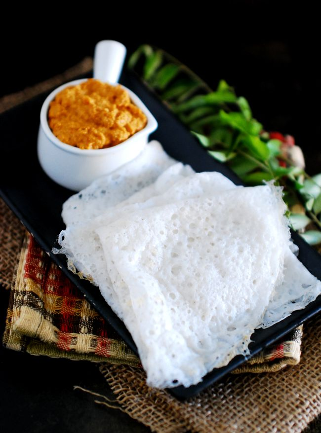 Learn how to make Neer Dosa - A simple, easy and healthy South Indian breakfast made with rice and coconut (optional). Goes well with chutney.