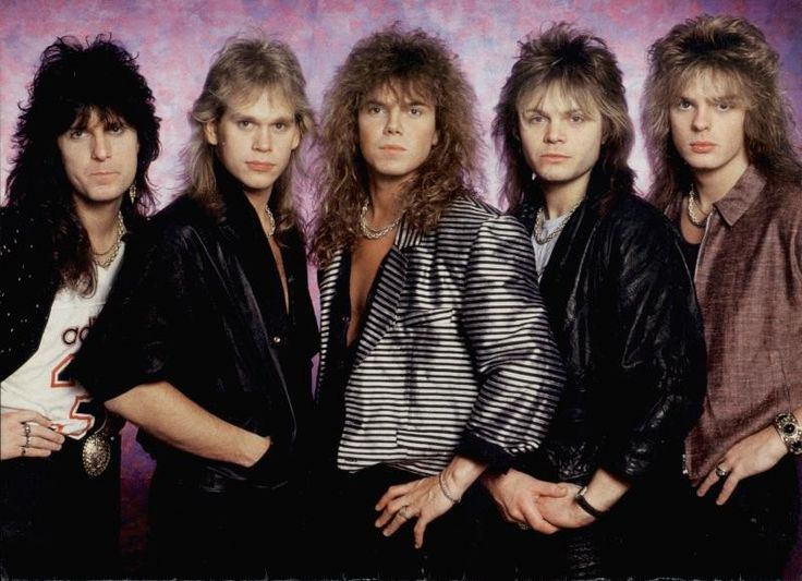 Le style glam métal avec le groupe de rock suédois Europe. Dans les années 80, leur tube The Final Countdown s'est vendu à 20 millions d'exemplaires dans le monde #mode #style #80s #glam #glamrock #rock #europe #fashion