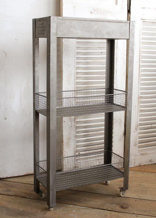 ゲシュマック ワゴン スリム インテリア雑貨 アンティーク調 収納アイテム その他家具 ブリキ 人気シリーズ 食器棚 小物収納 仕切り