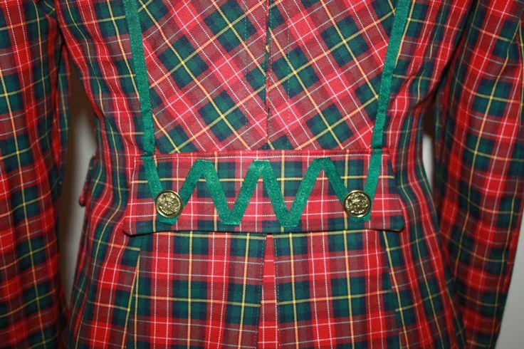 espalda chaqueta escocesa