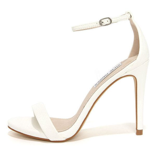 Best 25  White high heel sandals ideas on Pinterest | Green heeled ...