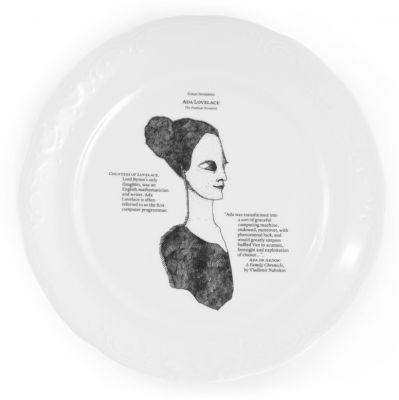 talerz płaski z serii Great Inventors by Kaja Kusztra // Kristoff
