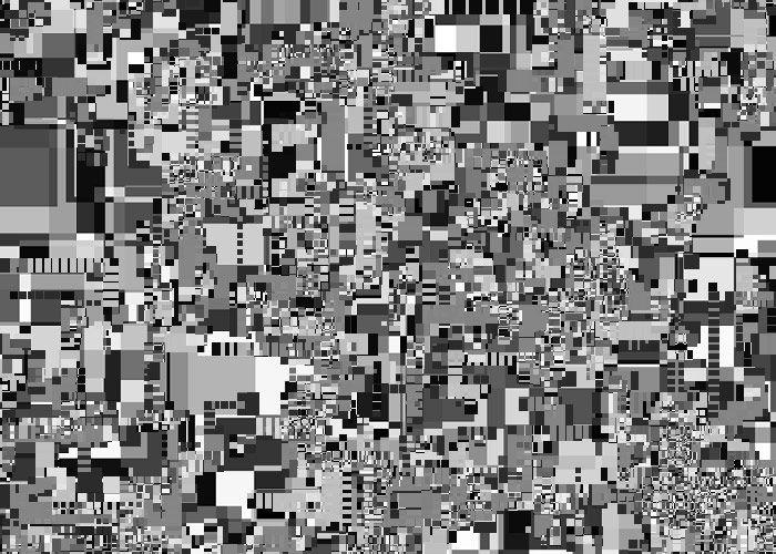 Frank Richter, random squares 06.30458/ 1998/ C-PRINT (generative art)