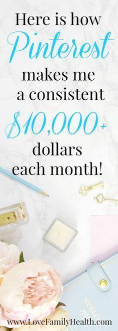 25 + › Wie man Geld verdienen kann ($ 10.000 pro Monat) Online mit Pinterest #makemoney #money # … – Dennis P.