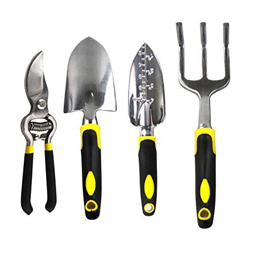 Gardening Tool Set  Premium Quality Long Handled, Durable, Heavy Duty  Aluminum Alloy, Ergonomic Soft Touch Handles By Apex Life *** Find Out More  Details By ...
