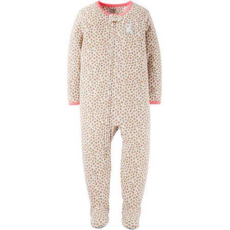 Child of Mine by Carter's Newborn Baby Girl 1 Piece Blanket Sleeper, Brown