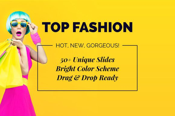 Top Fashion Powerpoint Template by Brainiart on @creativemarket