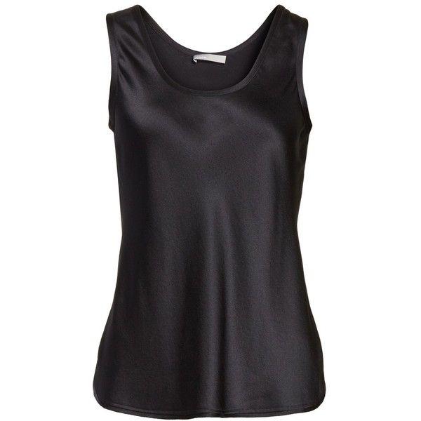Women's Vince Bias Cut Silk Tank ($225) ❤ liked on Polyvore featuring tops, vince tank top, silk tank tops, silk tank, vince tops and silk top