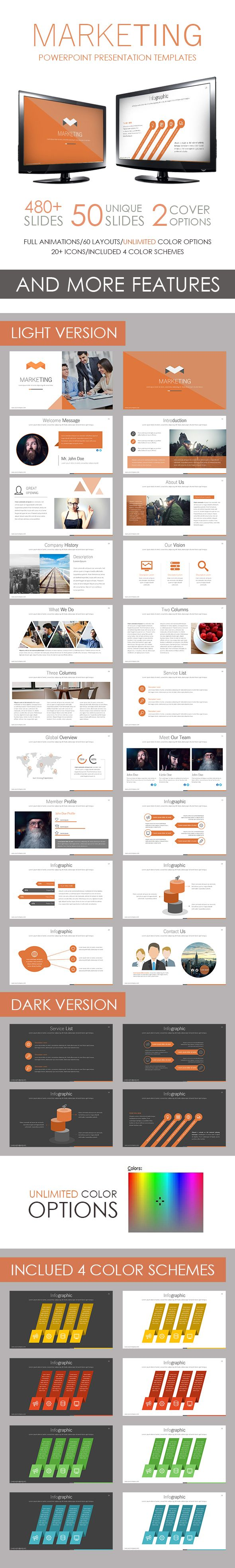 Marketing PowerPoint Template #slides #design Download: http://graphicriver.net/item/marketing-powerpoint-template/14201769?ref=ksioks