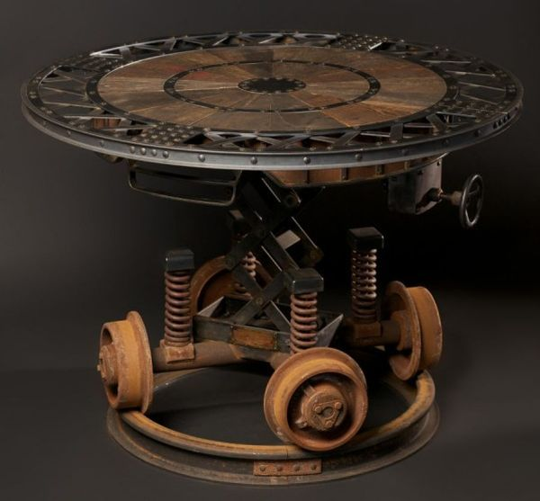 Industrial Revolution Furniture, Sculpture, And Design. Not Your Standard  Steampunk, Indeed. This Table Is Amazing, And I Want Two In The Living Room!