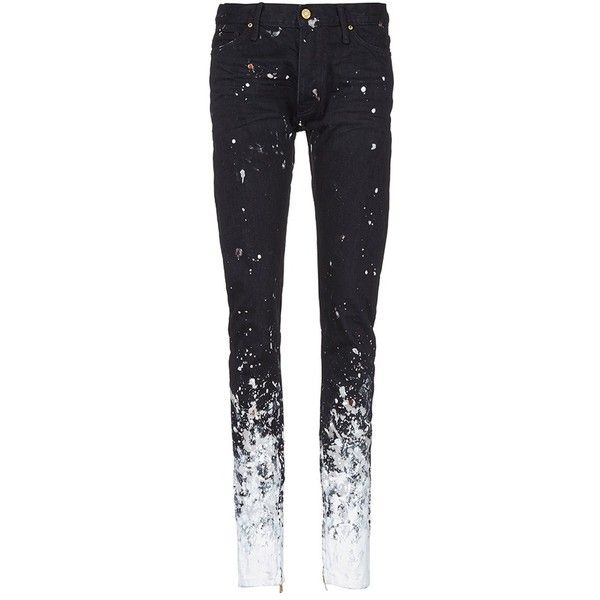 b70ab9f4 Fear of God 'The Black Painters' jeans ($1,195) ❤ liked on Polyvore ...