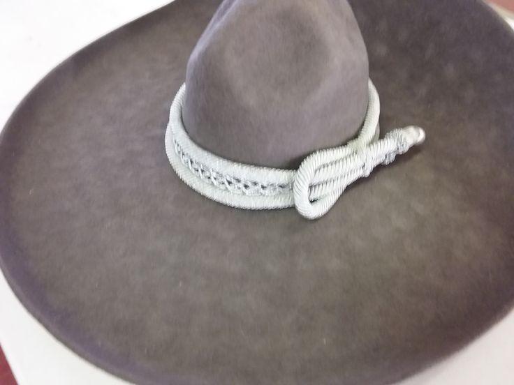 Sombrero Charro de Lana. Color Gris Obscuro 7-3/8 Americano 59 mex