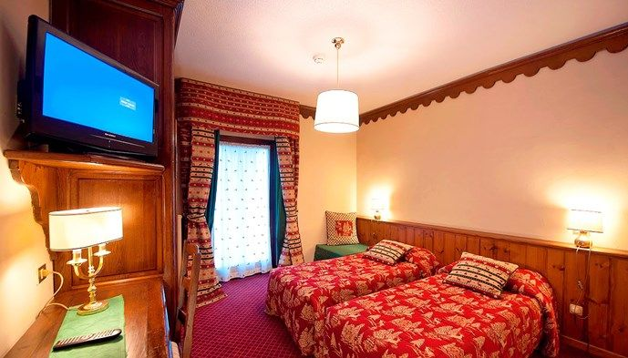 Dubbelrum på Hotel Jumeaux, Cervinia STS Alpresor
