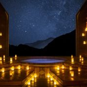 Star gazing and relaxing on a romantic evening at Onsen Hotpools Queenstown http://queenstownweddings.org/wedding-directory/group-activities