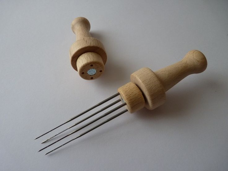 Poignée en bois pour aiguilles à feutrer - Wooden handle for needle felting