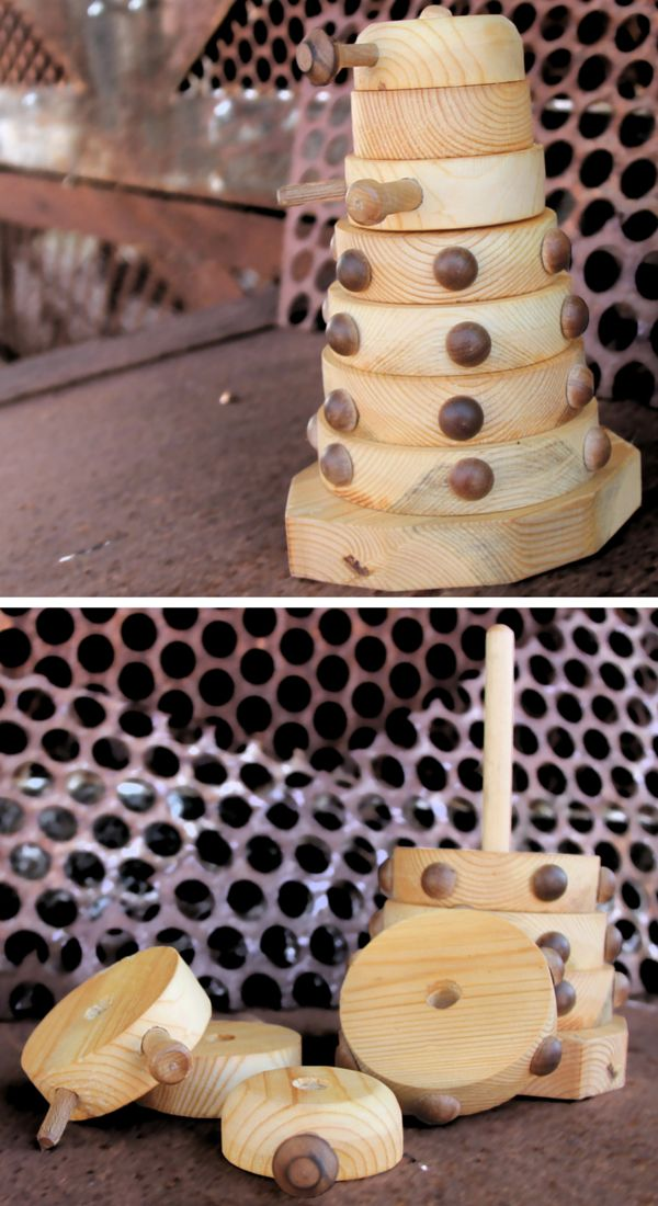 Teach your little Time Lord how to destroy a Dalek with these Doctor Who stacking rings.