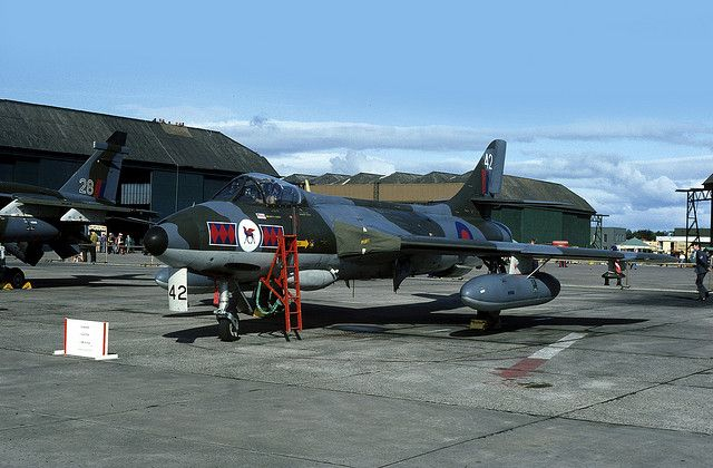 Hawker Hunter: RAF Hunter FGA.9 RAF Leuchars by emdjt42, via Flickr
