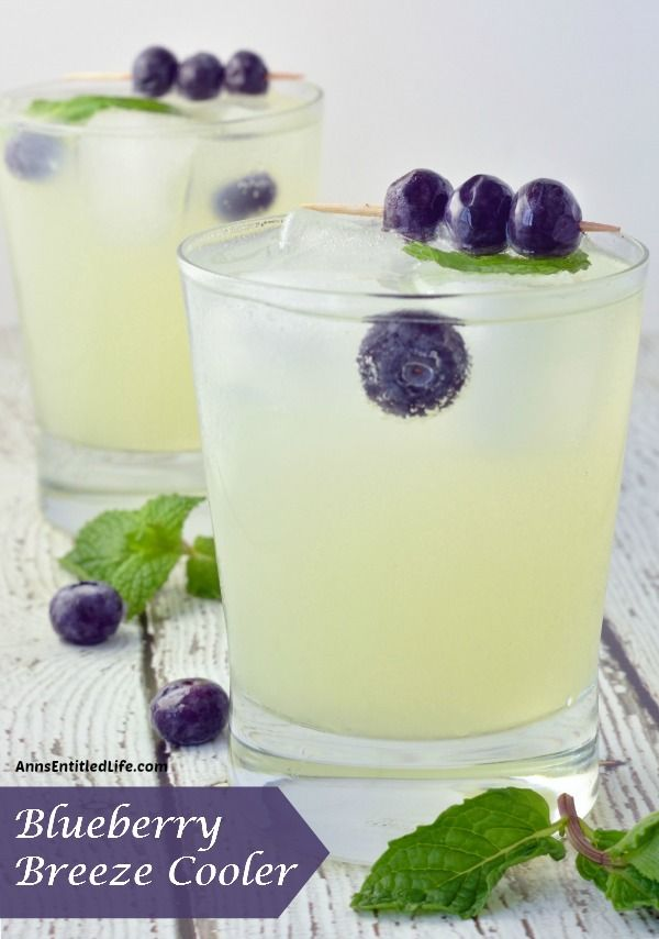 Blueberry Breeze Cooler; Quench your thirst with this adult lemonade cocktail. A deliciously refreshing adult libation, the Blueberry Breeze Cooler goes down smoothly.  http://www.annsentitledlife.com/wine-and-liquor/blueberry-breeze-cooler/