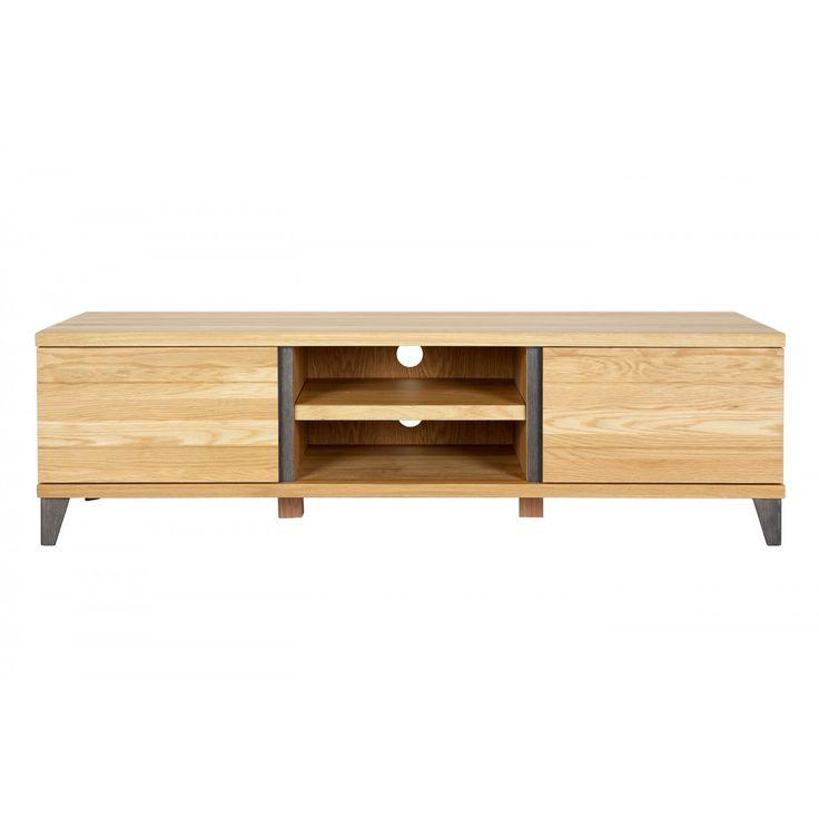 Les 25 meilleures id es concernant meuble tv chene sur for Meuble contemporain chene