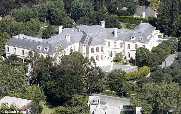 Sprawling: The French chateau inspired home was the largest in LA
