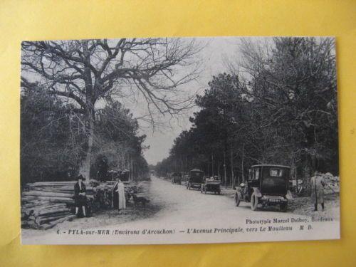 CPA-33-PYLA-sur-Mer-LAvenue-Principale-vers-le-Moulleau