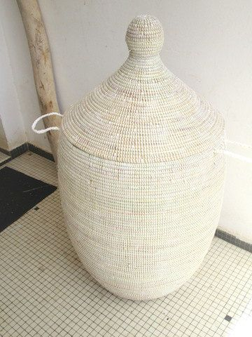 Huge Scandinavian Style White Wedding Basket by africanbaskets