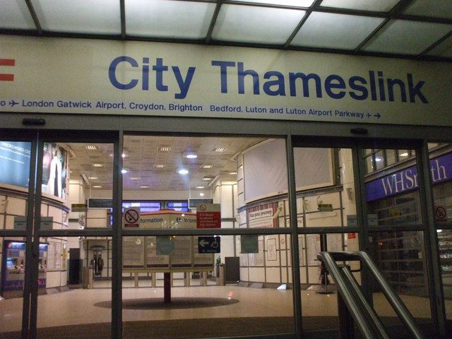 City Thameslink Railway Station (CTK) in London, Greater London