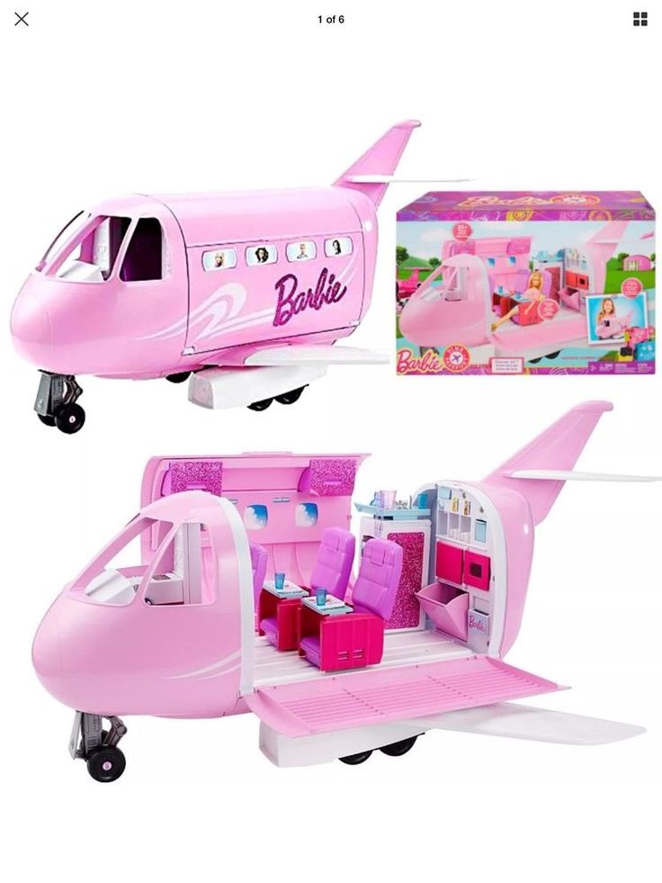 Mattel BARBIE Pink Passport Glamour Vacation Jet Airplane Plane (DMR53)  NEW #Mattel