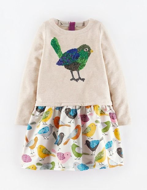 Cosy Woodland Dress 33373 Day Dresses at Boden
