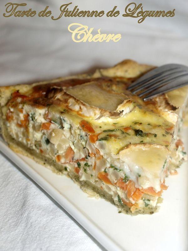 Tarte de julienne de légumes et chèvre - Dans vos assiettes