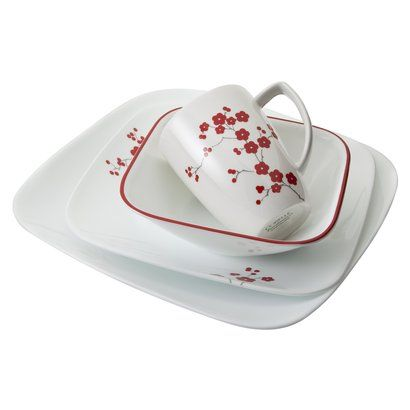 Corelle White Hanami Garden 16 Pc Dinnerware Set This Is A Must Have For Me