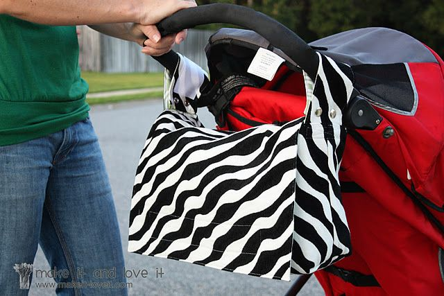 sewing tutorial - stroller bag convertible to messenger bag. so clever!