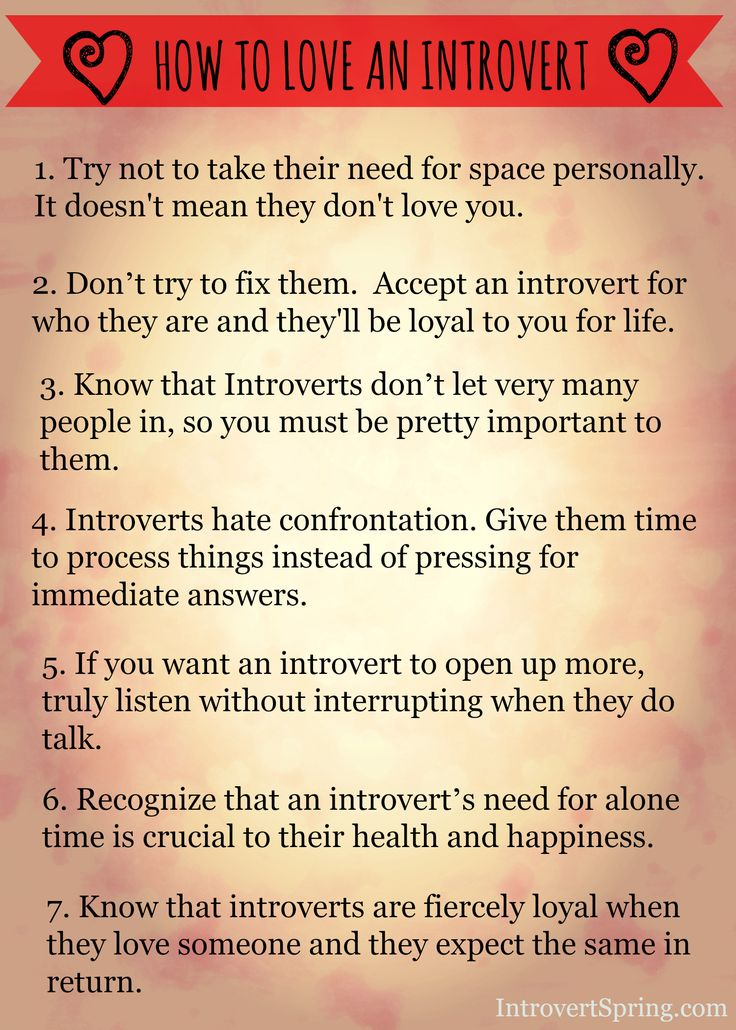 stuff like this is so helpful to me as an extrovert.  It's like learning another culture….