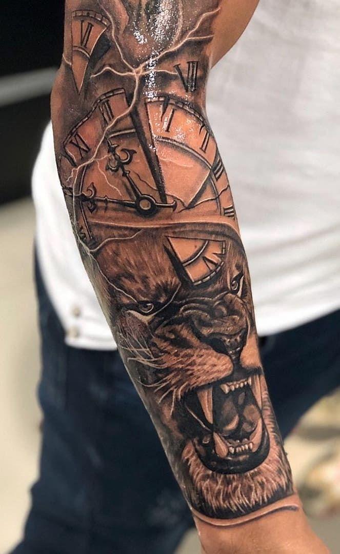 As 70 Melhores Tatuagens De Leao Da Internet Masculinas E Femininas Eu Amo Tatuagens Lion Tattoo Sleeves Tribal Arm Tattoos Sleeve Tattoos