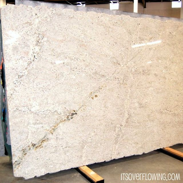 Lots of White -ish Granite Options - DIY Kitchen!!! @ItsOverflowing.com