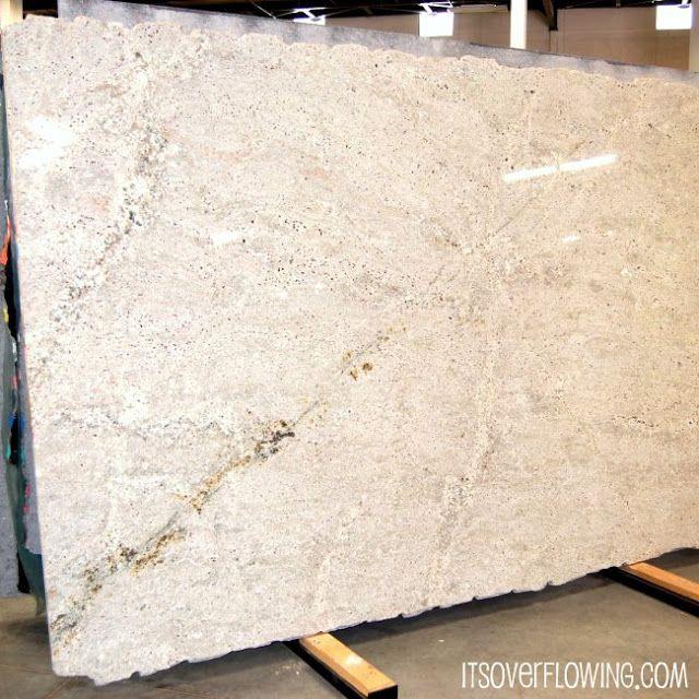 Lots of White -ish Granite Options - DIY Kitchen!!!  @ItsOverflowing.com