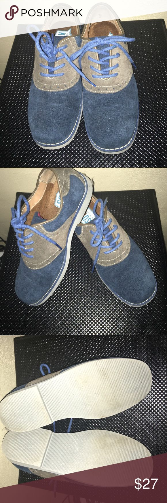 Florsheim Kids Oxford Shoe Navy Blue & Brown Florsheim Oxford Shoes! Great quality and very comfortable dress shoe! Perfect for any little guy! Florsheim Shoes Dress Shoes
