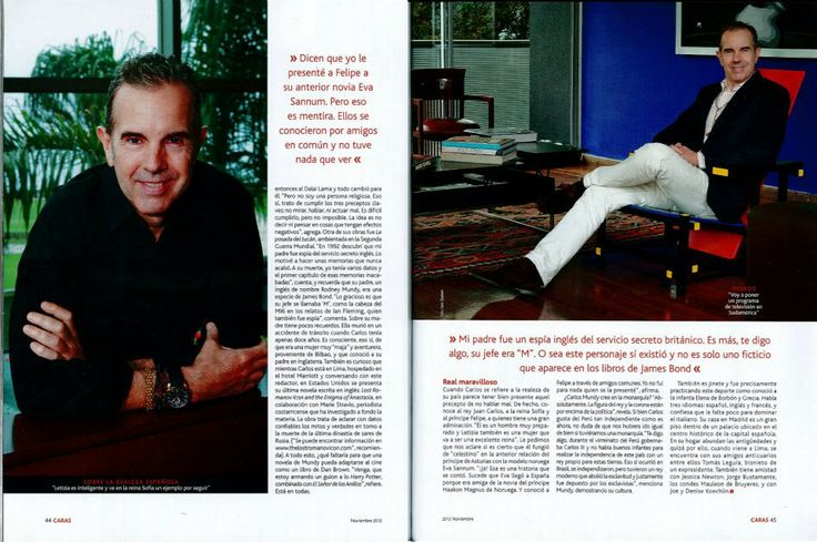 Entrevista en revista Caras