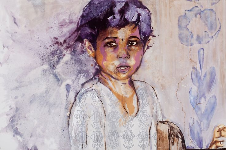 'Hanita' by Johanna Wilbraham. Oil on canvas, 180 x 120 cm